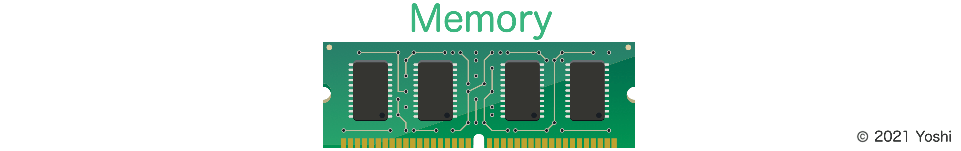 Concept image of memory