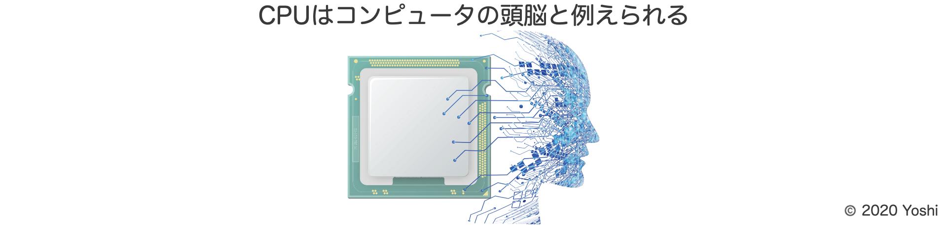 CPUはコンピュータの頭脳と例えられる