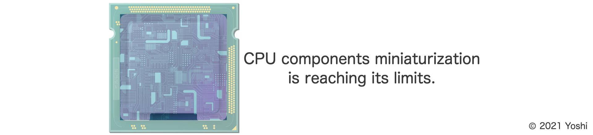 CPU components miniaturization