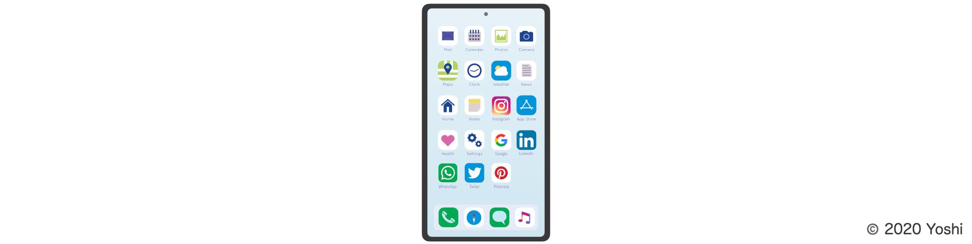 スマートフォン内のアプリケーションの数